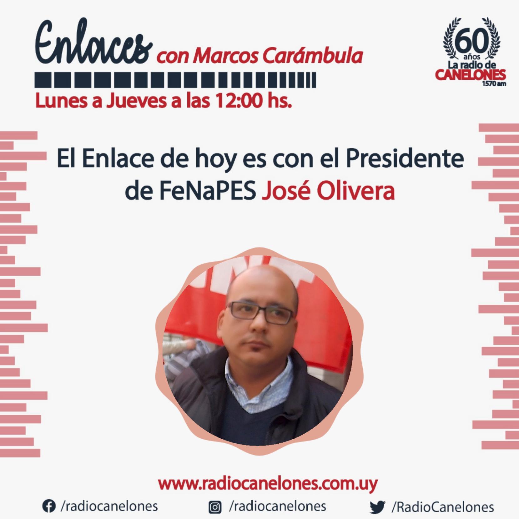 Enlaces con José Olivera, presidente de FeNaPES