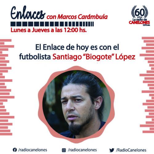 «Enlaces» con el futbolista Santiago «Bigote» lopez