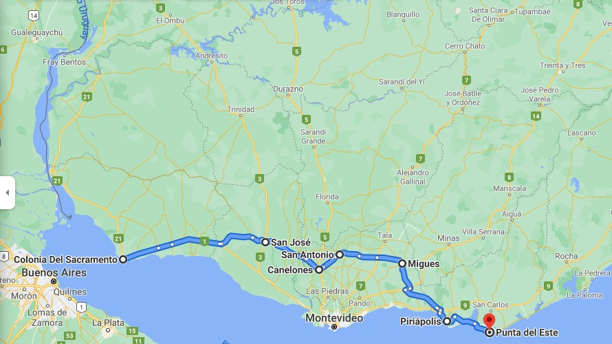 Edila de Canelones propone una línea de omnibus que una Colonia con Punta del Este y pasa por Canelones