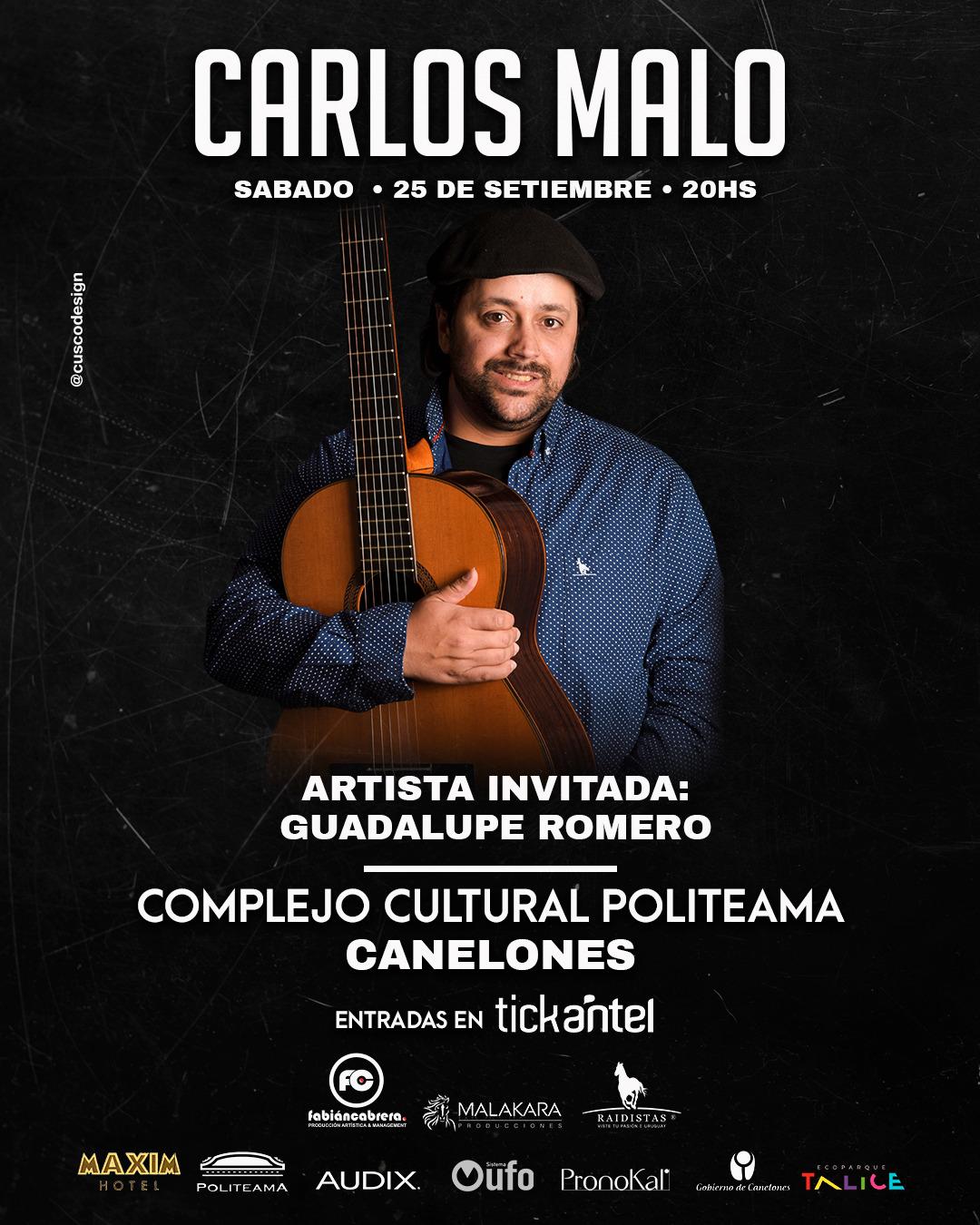 Carlos Malo se presenta en el Politeama